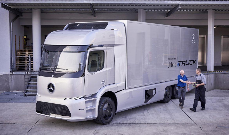 Mercedes samochody ciężarowe elektryczne Urban eTruck