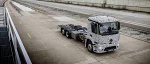 Mercedes samochody ciężarowe elektryczna 2020