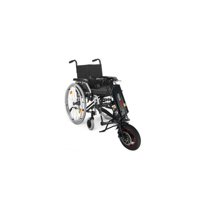 Bezpieczna przystawka elektryczna do wózka inwalidzkiego.